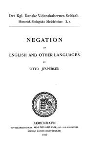 Cover of: Negation in English and other languages