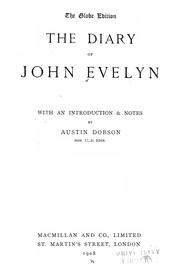 Cover of: The diary of John Evelyn