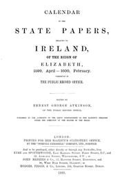 Cover of: Calendar of the state papers relating to Ireland, of the reigns of Henry VIII., Edward VI., Mary, and Elizabeth