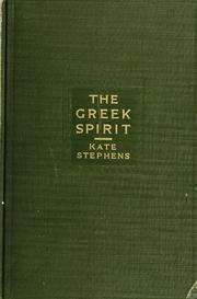 Cover of: The Greek spirit