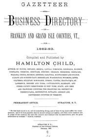 Cover of: Gazetteer and business directory of Franklin and Grand Isle counties, Vt