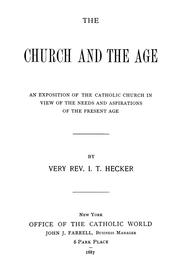 Cover of: The church and the age