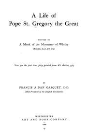 Cover of: A life of Pope St. Gregory the Great