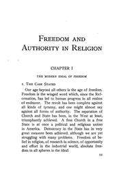 Cover of: Freedom and authority in religion