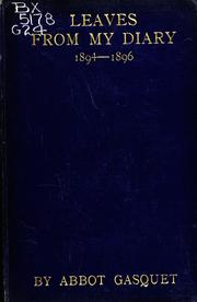 Cover of: Leaves from my diary, 1894-1896
