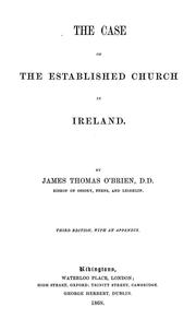 Cover of: The case of the Established Church of Ireland