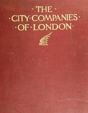 Cover of: The city companies of London and their good works