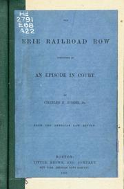 Cover of: The Erie Railroad Row cosidered as an episode in court