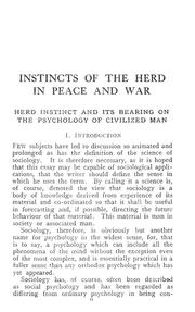 Cover of: Instincts of the herd in peace and war