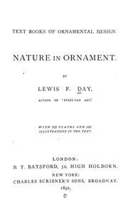 Cover of: Nature in ornament