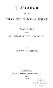 Cover of: On the delay of the divine justice
