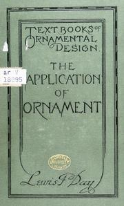 Cover of: The application of ornament