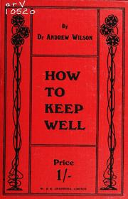 Cover of: How to keep well.
