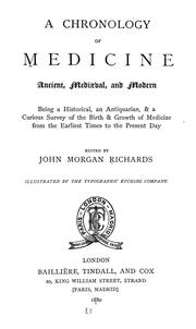 Cover of: A chronology of medicine, ancient, mediaeval, and modern