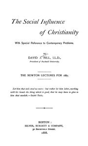 Cover of: The social influence of Christianity