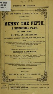 Cover of: King Henry V
