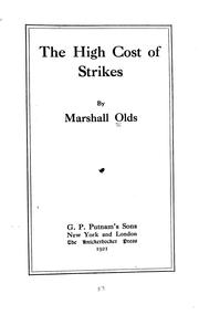 Cover of: The high cost of strikes