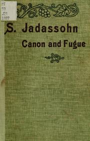 Cover of: A course of instruction on canon and fugue