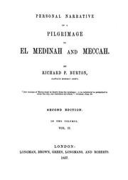 Cover of: Personal narrative of a pilgrimage to el Medinah and Meccah