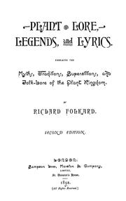 Cover of: Plant lore, legends, and lyrics