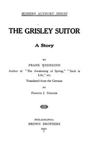 Cover of: The grisley suitor: a story