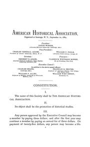 Cover of: Papers of the American Historical Association.