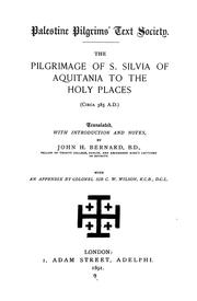 Cover of: The library of the Palestine Pilgrims' Text Society