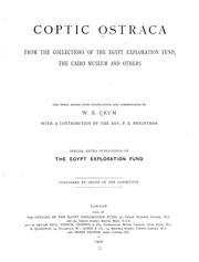 Cover of: Coptic ostraca from the collections of the Egypt exploration fund