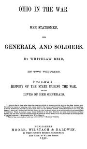 Cover of: Ohio in the war