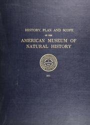 Cover of: The American museum of natural history, its origin, its history