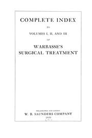 Cover of: Complete index to volumes I, II, and III of Warbasse's Surgical treatment