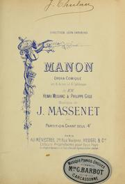 Cover of: Manon
