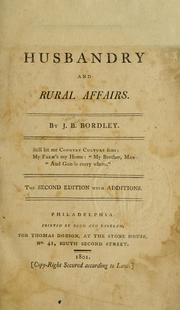 Cover of: Essays and notes on husbandry and rural affairs