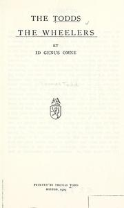 Cover of: Preliminary revision of the genus Inga