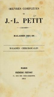 Cover of: Oeuvres comples de J.L. Petit