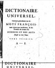 Cover of: Dictionnaire universel...