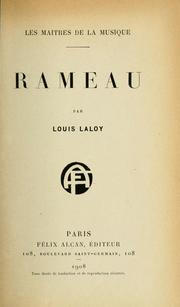 Cover of: Rameau: par Louis Laloy.