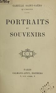 Cover of: Portraits et souvenirs.