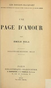Cover of: Une page d'amour