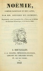 Cover of: Noémie