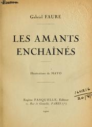 Cover of: Les amants enchaînés.