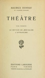 Cover of: Théâtre.