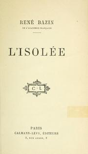 Cover of: L' isolée.