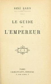 Cover of: Le guide de l'empereur.