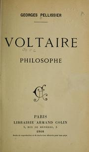 Cover of: Voltaire, philosophe.