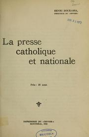Cover of: La Presse catholique et nationale.
