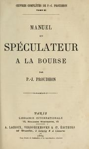 Cover of: Manuel du spéculateur à la bourse.