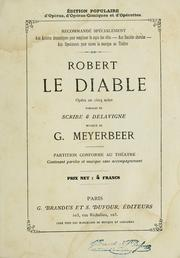 Cover of: Robert le Diable