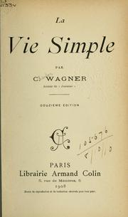 Cover of: La vie simple.
