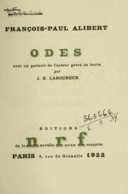 Cover of: Odes